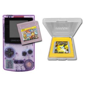 Game Boy Color Com Pokémon Yellow E Cartucho De 100 Jogos
