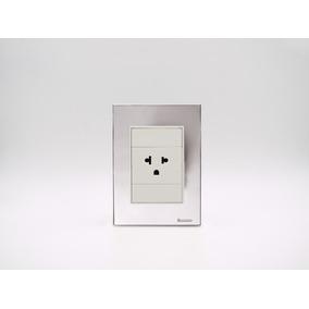 Placa Bauhaus Plata Y 1 Toma C/t Linea Premium