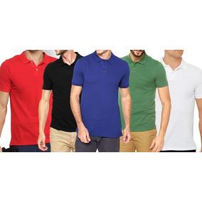 Kit 5 Camisa Camiseta Gola Polo Lisas Atacado Revenda Barato 18a915e52f584