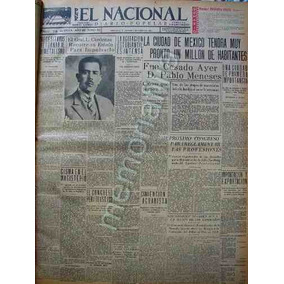 Periodico Antiguo 1931 Con Lazaro Cardenas Pwq