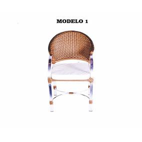 Cadeiras Poltrona Rattan Para Jardim Em Alumínio