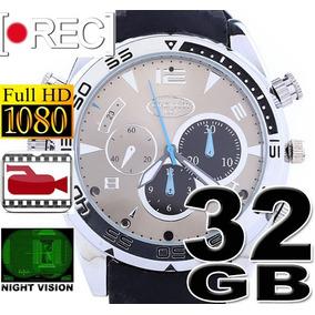 fbadf769dff 32gb Relogio De Pulso Espião Relógio Camera Visão Noturna