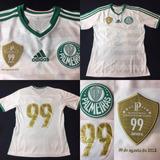 7a5af3bd56 Camisa Palmeiras 2013 Away 99 Anos Tam 14 Infantil Otimo