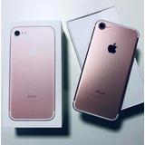 Apple Iphone 7 Rose 32gb Na Cx C/ Todos Acessórios Originais