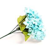 Hortensias Artificiales Azul Ramo Flores , 1 Pieza 1 Ramo