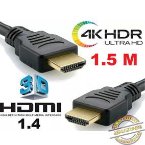 Cabo Hdmi 1,5metros 1.4 Fullhd 1080p Para Notbook Tvled Ps3