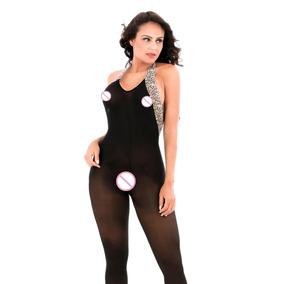 Body Sexy Negro Baby Doll Noche Pasion Sex Abierta (w6142)