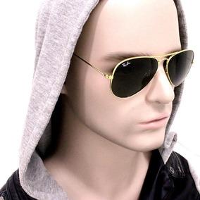 Óculos De Sol Masculino Avdr Dourado Lente Verde Uv400 fe4ef5af21