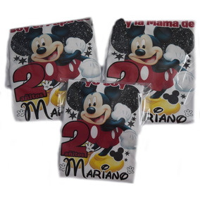 Playeras Personalizadas Mickey Mouse Fiestas Infantiles