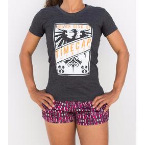 Camiseta Crossfit Musculação Treino Feminina Blusa Grafite 2b9fe2d892486