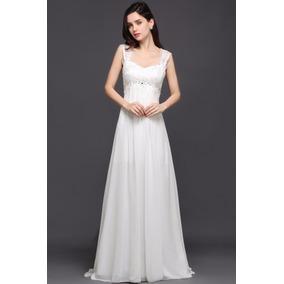 Vestidos blancos largos para boda civil