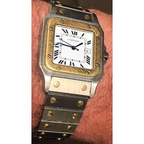 fea155c3e6a Cartier Santos. Automático Aço E Ouro .