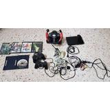 Playstation 2 C/ 4 Controles Originales,5 Juegos Originales