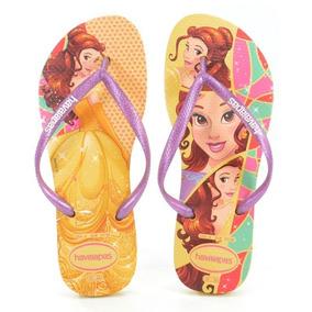 b108bd4c86e144 Chinelo Havaianas Kids Slim Princess Amarelo Claro - 412332