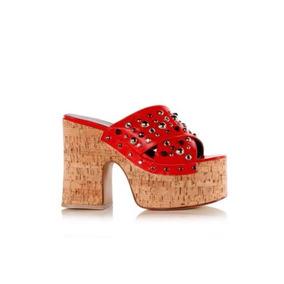 afc19f509b7b1 Zuecos Mujer De Corcho - Zapatos de Mujer Rojo en Mercado Libre ...