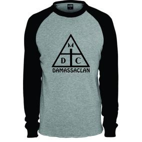 Camiseta Camisa Damassaclan Raglan Longa b04a1bc527a