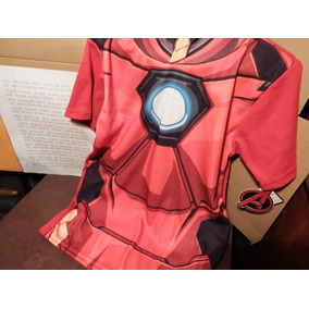 Playera Armadura Iron Man Marvel Con Gorro Niño Avengers