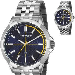 Relógio Mondaine Masculino Grande Prateado Original