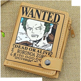 One Piece Cartera Envio Gratis Wanted Luffy Billetera Zoro