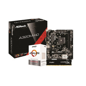 Kit Amd Athlon 200ge Asrock A320m Hd 4gb Fury 2400mhz