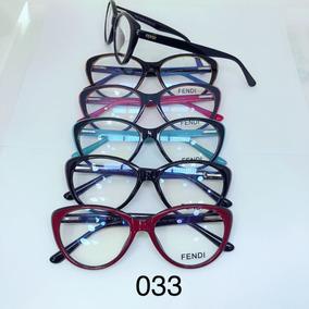 Armação Óculos De Grau Feminina Mod. Fd - 033 Em Acetato 65b6ccad91