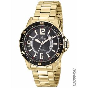 Relógio Champion - Ca30945u - Quartz Aço Esporte Dourado E P