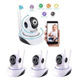 Kit 4 Cameras Ip Robot P2p Wireless Wifi Sem Fio Hd 720p