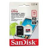 Cartão De Memoria Micro Sd16gb 80mbs Lacrado Oferta Especial