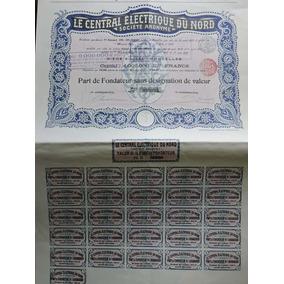 Apolice Central Electrique Du Nord 1910 Belgica