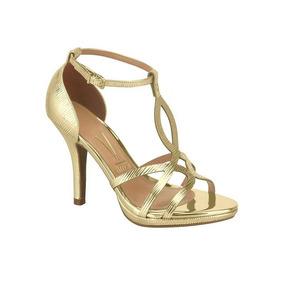 Sandalia Metal Glamour Vizzano Dourado 6210.472