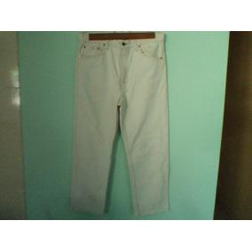 Calça Levis 505 Usa Branca Nº 42 44 Usada 1 Vez Ler Medida d1e7c6c6bae