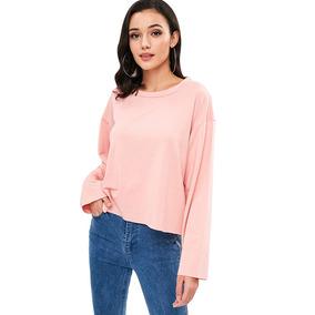 Maxi Suéter De Color Liso