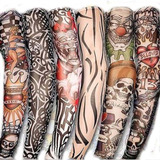 Kit Com 6 Sleeve Manga Manguito Fake Tattoo Tatuagens Falsa.