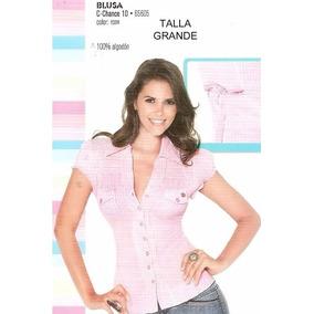 Hermosa Blusa Rosa De Manga Corta Muy Fresca Ide Alcalor
