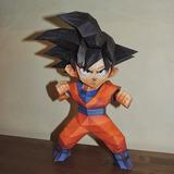 Pdf Proyecto Papercraft Muñeco Dragon Ball Z Goku
