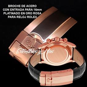 Broche Desplegable Acero Color Oro Rosa Para Reloj Rolex