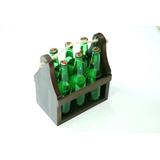Six Pack Porta Cerveza En Madera