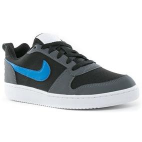 Tenis Nike Court Borough Low Maculino(n°41) Cinza Azul Preto