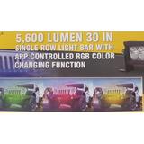 Barra Led Slim Rgb Estrobo 30in 5600 Lum Bluetooth 4x4 Offro