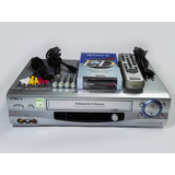 Reproductor Vhs Sony 6 Head Hifi Stereo Accesorios + Pack