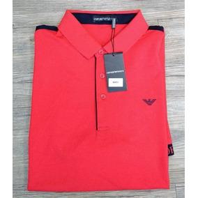 Camisa Polo Giorgio Armani - Pólos Manga Curta Masculinas Vermelho ... 97afb809b7