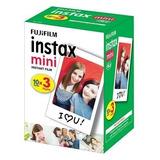 Filme P/ Instax Mini 8 9 7s 90 Polaroid 300 C/ 30 Fotos