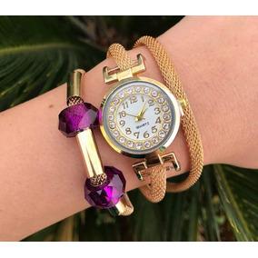 Reloj Dama Modelos Varios(incluye Cajita Y Pulseras)