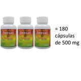 Óleo De Avestruz Em Cápsulas - Kit Com 180 Cápsulas 500 Mg