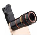 Lente Universal Zoom Óptico De 8x Celular Telescópio Promoçã