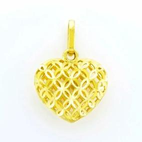 47e5169f9dfe7 Pingente Coração Dupla Face Ouro 18k - Joias e Bijuterias no Mercado ...