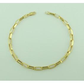Pulseira Masculina Cartier 18 Cm Ouro 18k 750 Lançamento
