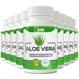 10 Potes Aloe Vera 500mg Com 120 Cáps Preço De Atacado