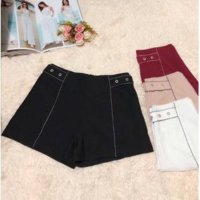 Shorts Feminino Social Liso Verao Moda
