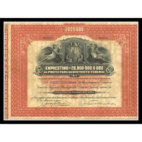 Apólice - Prefeitura Do Distrito Federal - 1917